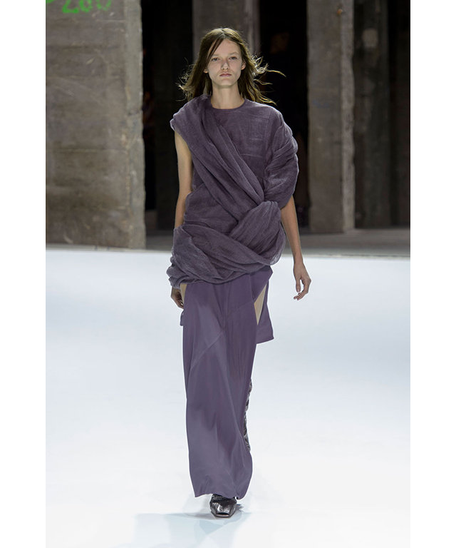 Rick Owens: muted tones and draping
