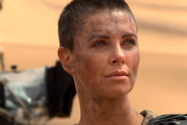 Charlize Theron cut all her golden blonde locks off for her role in 'Mad Max:Fury Road'.