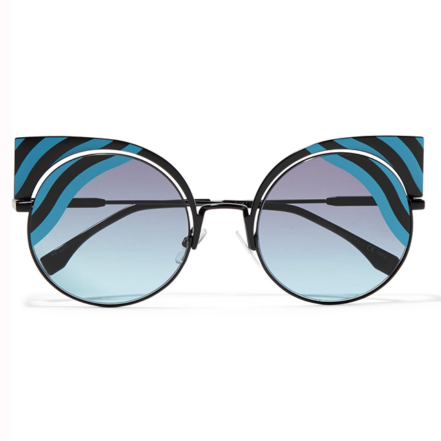Fendi graphic stripe cats-eyes; $890 at Net-a-Porter.com.