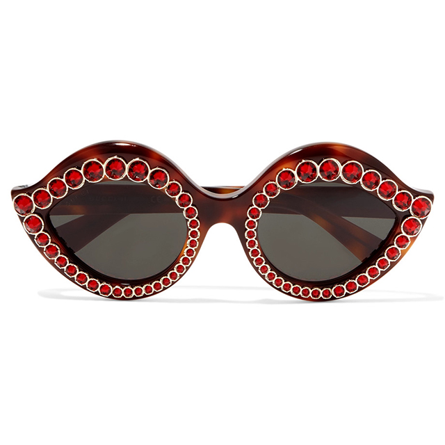 Gucci crystal-embellished cats-eyes; $969 at Net-a-Porter.com.