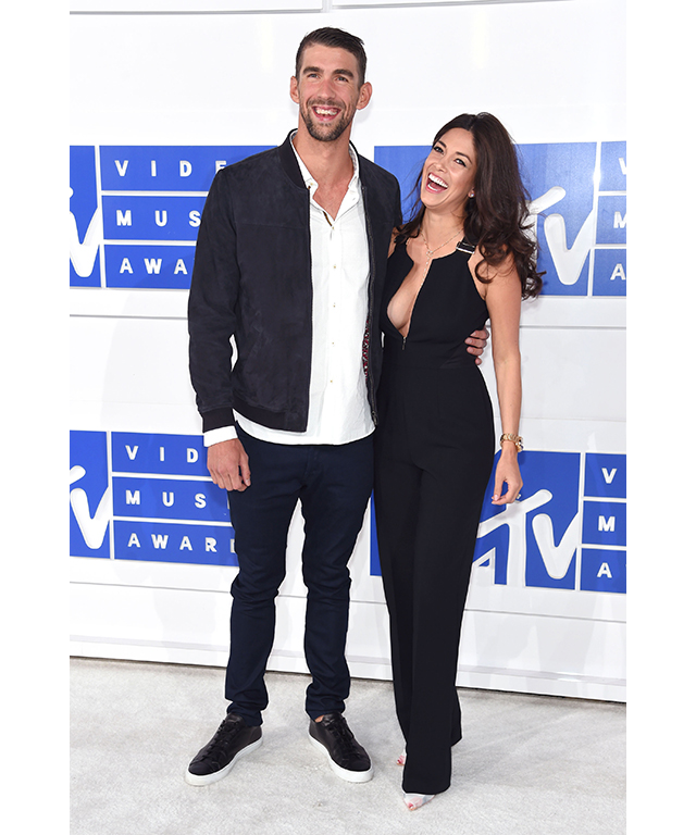Olympic swimmer Michael Phelps and fiance Nicole Johnson