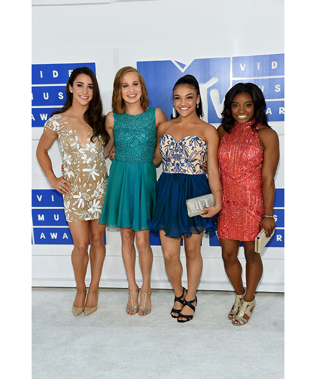 Olympic gymnasts Aly Raisman, Madison Kocian, Laurie Hernandez and Simone Biles