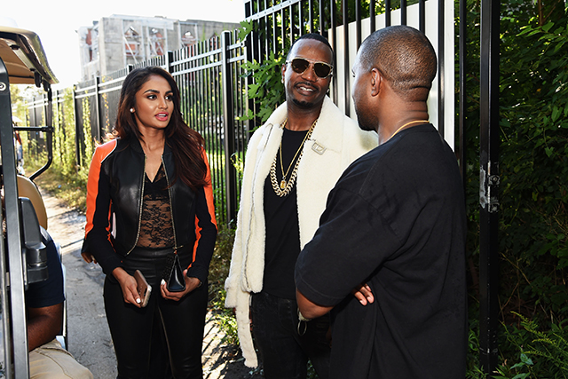 Rapper 2 Chainz chats to Kanye ahead of the show