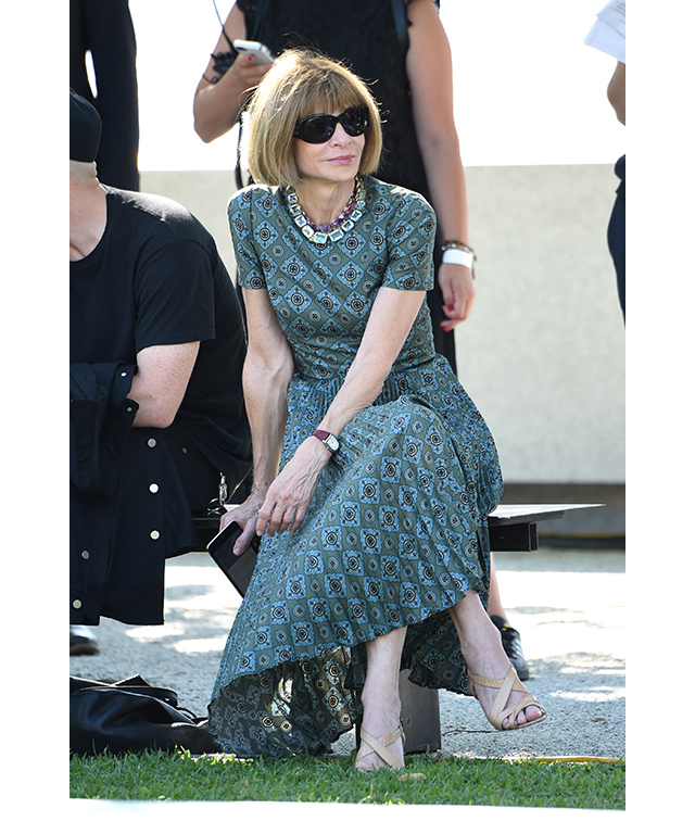 Anna Wintour (let's hope she's not reduced to tears this time)