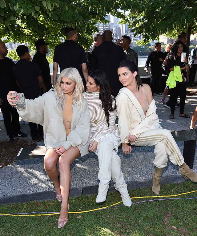Kim, Kylie and Kendall practise their best selfie faces