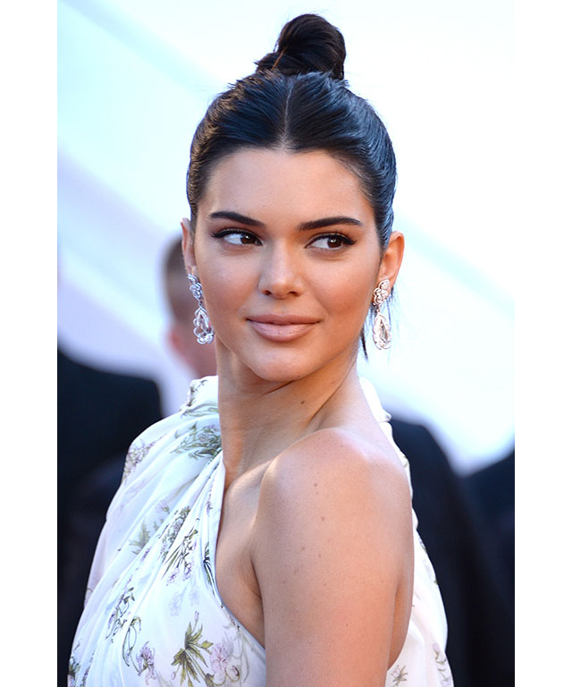 Kendall Jenner: Jenner made her middle-parted top knot the statement, with modest make-up and a matte pink lip.
