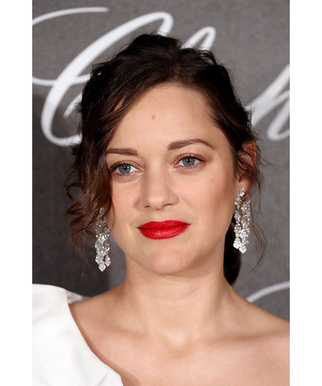 Marion Cotillard: Marion paired her bright red lip with barely-there make-up to make her perfect pout the centre of attention.