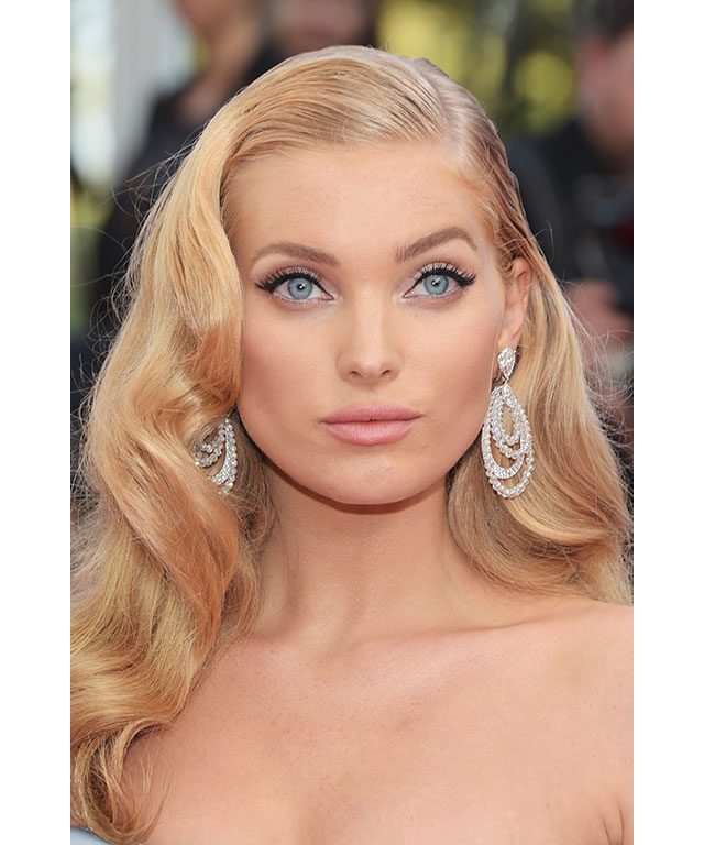 Elsa Hosk: Elsa became a real-life princess in her first Cannes debut. Her breathtakingly stunning make-up was paired with '50's style waves and her piercing blue eyes were framed with a near-perfect cat-eye. Without doubt one of the most beautiful looks of 2017.