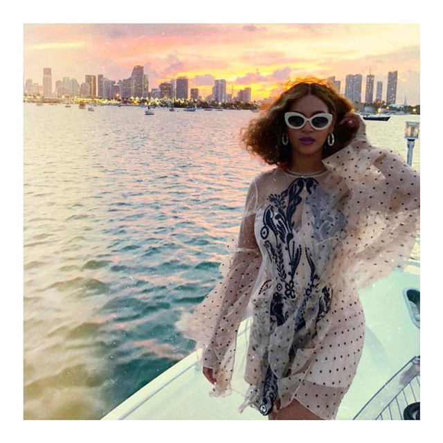 Beyoncé in Alice McCall dress.