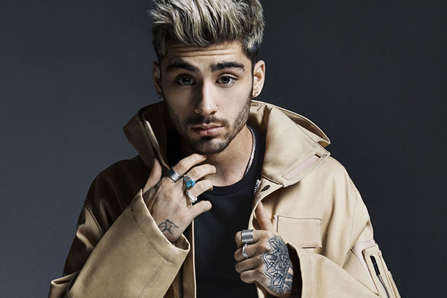 Zayn Malik: Earlier this year ex-one direction member Zayn Malik released his album's lead single 'Pillow talk', which propelled the singer to the top of the charts worldwide. The single's video clip featured his supermodel girlfriend Gigi Hadid, which then followed with his successful first solo album 'Mind Of Mine'. Zayn is currently writing his self-titled book 'ZAYN' and also featured in Vogue Us alongside GF Gigi.