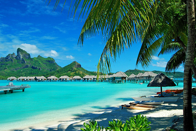Bora Bora: Bora Bora in French Polynesia is basically heaven on earth. The clear turquoise water is framed by blindingly white, sandy palm-fringed beaches, and then there's the food – it's French, ergo it's exceptional.