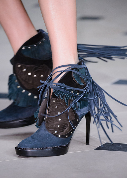 Burberry:  tassled booties