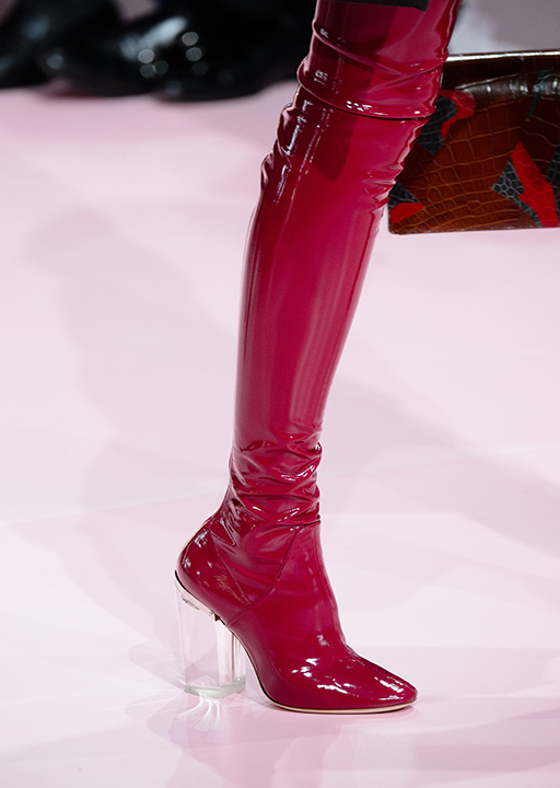 Christian Dior:  second-skin vinyl thigh high boots