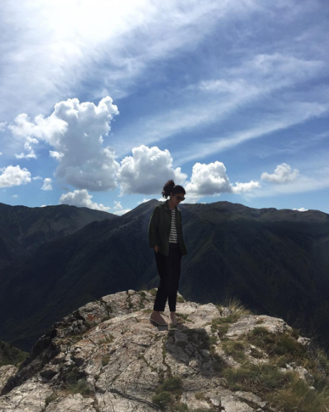 Tank magazine editor Caroline Issa on top of the world in Bosnia and Herzigovina / @carolineissa
