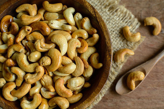 Cashews. Add them to your salads or have them in a nut butter format. They are high in zinc which is one of the ingredients for great skin. Not to mention that it tastes amazing.