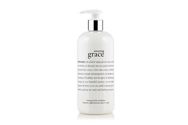 Philosophy Amazing Grace Body Emulsion, $45: While it may not be as potent as the other formulas, this softly scented lotion is a must-have on the mantelpiece. Use it as your everyday moisturiser and your limbs will feel extra soft and hydrated, thanks to the olive and macadamia oils. But over time, you'll notice your body appearing more firm and plumper than ever before without even trying.
