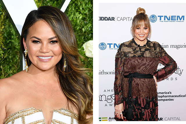 Chrissy Teigen got bangs!