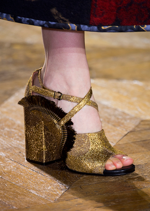 Dries Van Noten:  brushed metallic heels