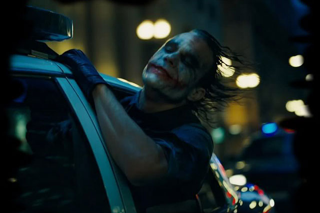 The Dark Knight, 2008: Leger's penultimate performance was his most celebrated; his wordless moment as the Joker, hanging out of a police car, revelling in the chaos he has caused has become an iconic moment in cinematic history.
