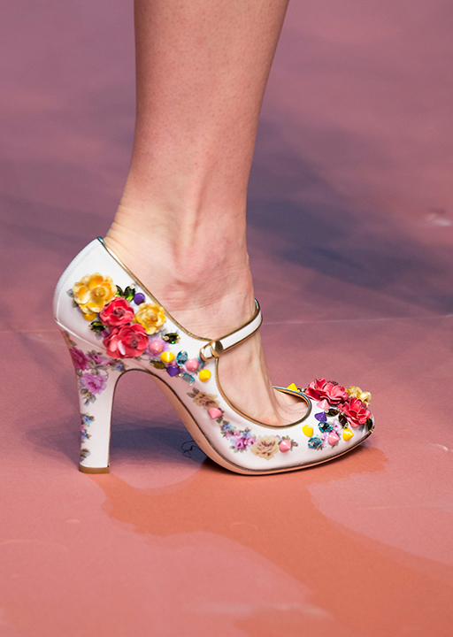 Dolce & Gabbana:  floral applique Mary Janes