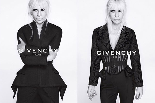 Tisci's rumoured new boss, Donatella Versace stars in Givenchy's A/W'15 campaign