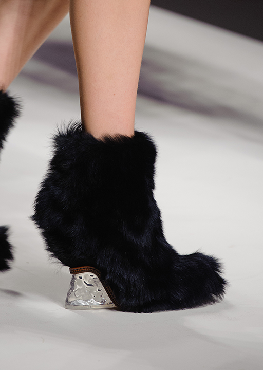 Fendi:  fur bootie