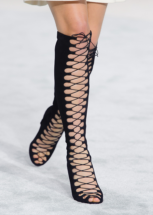 Giambattista Valli:  lace-up dominatrix boots