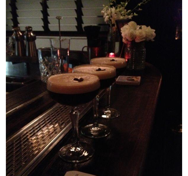 Espresso martini with house-made spice mix, Gardel's Bar, Surry Hills.