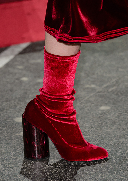 Givenchy:  second-skin velvet ankle boots