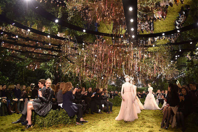 And the award for Best Set goes to: Dior's secret garden.
