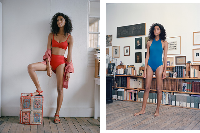 Her Line: Inspired by athletic silhouettes, Her Line swimwear is understated and modern with a focus on tailoring.