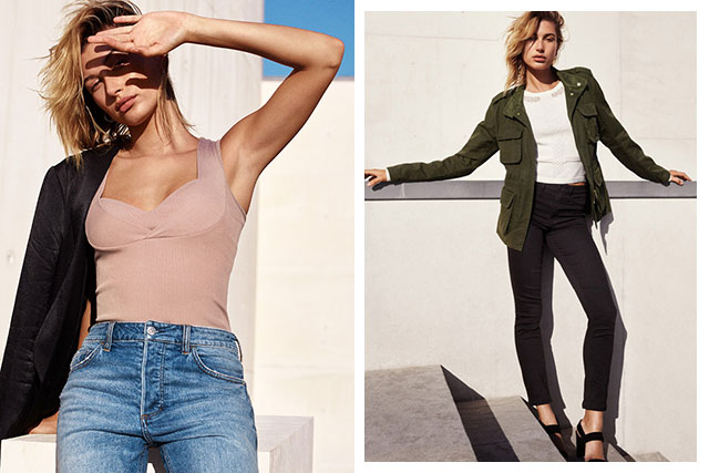 Hailey Baldwin for H&M Denim S/S'17
