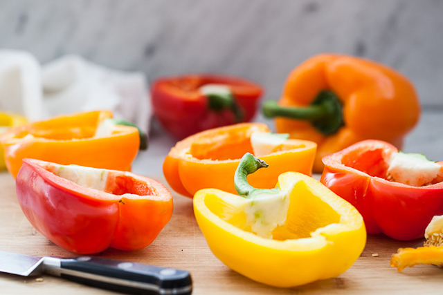 Red and yellow bell peppers – colorful capsicums are antioxidant central, clearing skin one bite at a time. They're also high in vitamin B6 and magnesium, which decrease bloating. Good news for the puffy-eyed partier.