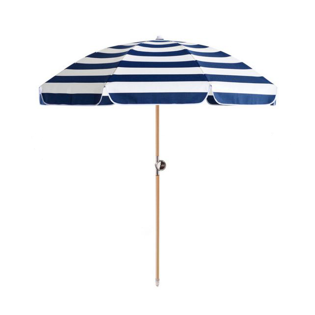 Serge beach umbrella, $450,