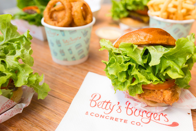 Betty's Burgers, Hastings St, Noosa: Covering the heart-starting man meal sector on the Sunshine Coast, Betty's Burgers has the American-style burger and fries combo down to a fine retro art.
