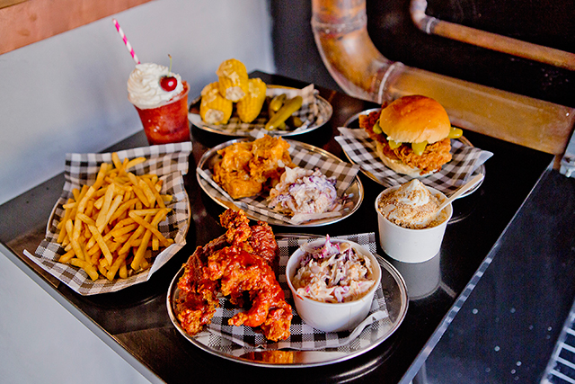 Butter, Surry Hills, Sydney: Catering to the subversively cool dude food and sneaker seeker, this eatery is a hybrid kicks, fried chicken and champagne bar. Pick out a new pair of trainers while you chow down on chicken, fries, and soft serve.
