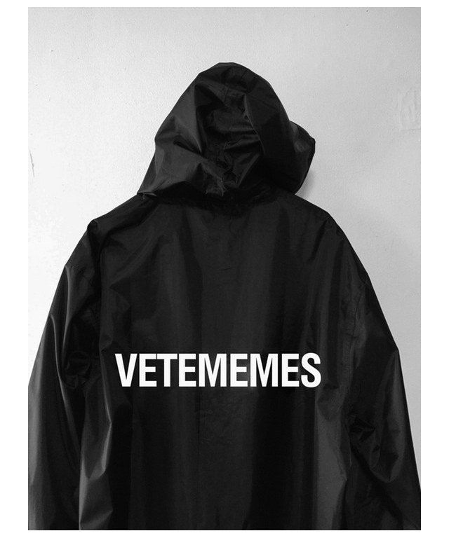 The parody Vetememes rain jacket