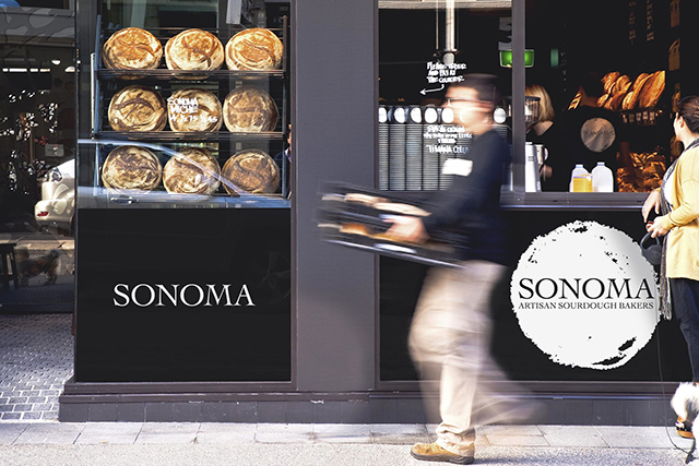 Sonoma Bakery: Alexandria (32-44 Birmingham St), Bondi (R10/178 Campbell Pde, via Gould St), Glebe (215a Glebe Point Rd), Paddington (215a Glebe Point Rd), Rose Bay (Shop 1, 779 New South Head Rd), Waterloo (Shop 1, 779 New South Head Rd), Woollahra (Shop 5/156 Edgecliff Rd).