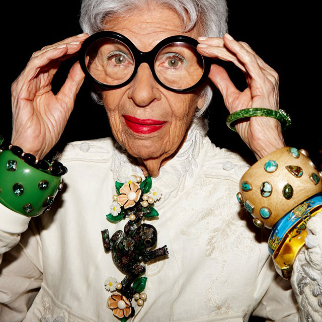"""I say dress to please yourself. Listen to your inner muse and take a chance. Wear something that says 'here I am today!' - Iris Apfel"