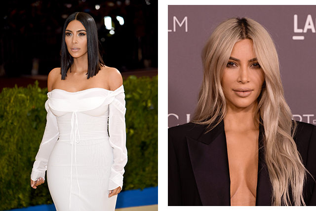 Kim Kardashian is no stranger to a hair transformation. The reality star has again dyed her hair platinum blonde.