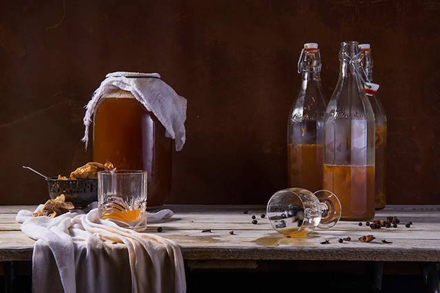Kombucha. The master of all fermented foods. It is fizzy and tastes great. It helps your digestion and in the long run, great digestion means great skin.