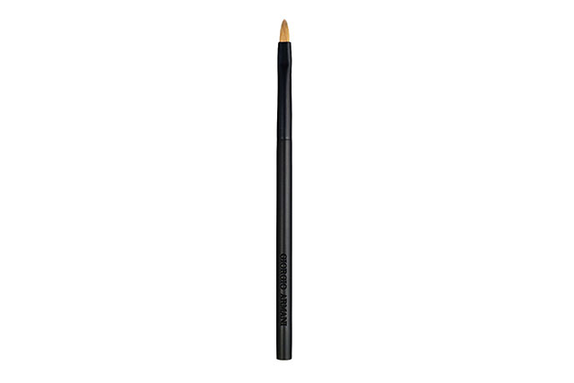 "Lip brush: Lips are impossible to do without the right brush! Symmetry is far easier using a lip brush and helps created the perfect lip shape. Tip: Load the brush before each application."" Giorgio Armani Lip Brush, $74 davidjones.com.au"