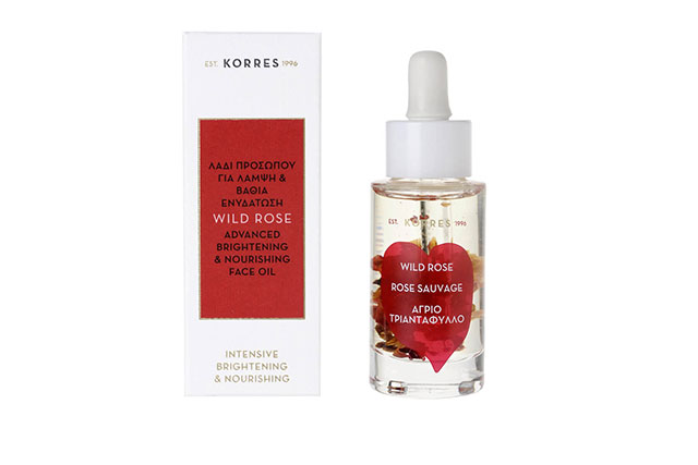 Korres Wild Rose Advanced Brightening & Nourishing Face Oil, $75 mecca.com.au