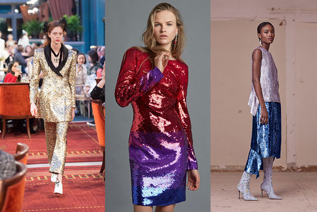 PAILLETTE PARTY || Glam rock, Bowie-inspired sequins fit for centre stage at Chanel, Altuzarra and Roberto Cavalli.