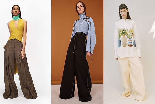 GREAT LENGTHS || Though perhaps unpractical, the chicest hemline for trousers is proving to be one that puddles at the feet of the wearer. Look to Ports 1962, Ellery and Tome for the best examples.
