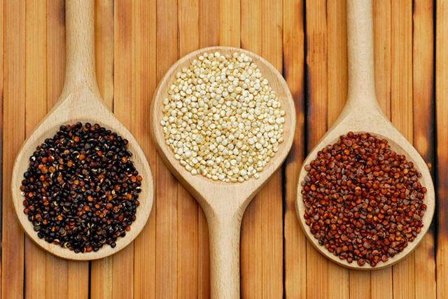Quinoa. This South American delicious superfood is high in protein. I highly recommend you use it instead of rice.