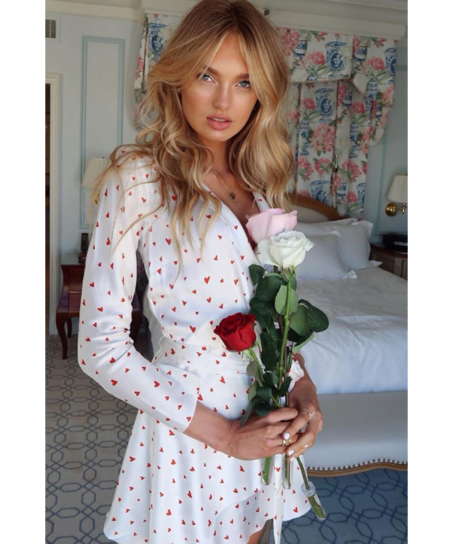 Romee Strijd in Bec & Bridge dress.