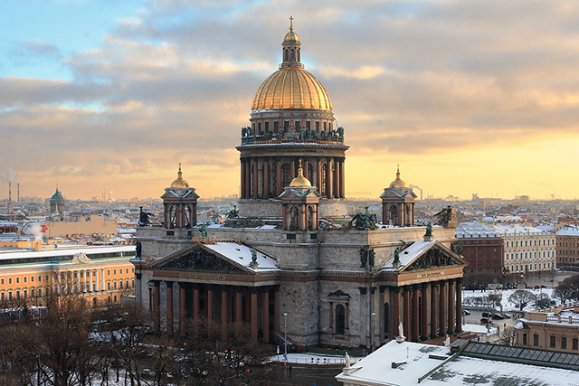 "BEST VIEW OF THE CITY: ""Climb up to the dome of St Isaac's cathedral for 360 degree views of Saint-Petersburg."""