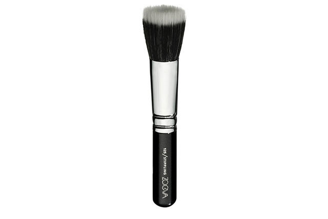 "Strippling brush: ""Strippling brush is great for polished, air-whipped skin. I use it to buff and polish the primer and foundation into the skin for complete skin perfection."" Zoeva 125 Strippling Brush, $28 sephora.com.au"
