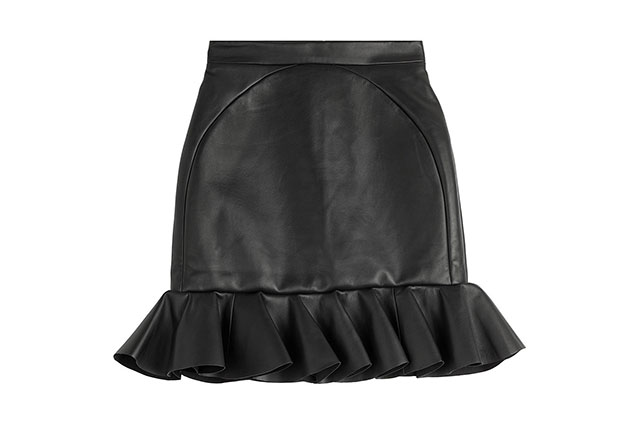 David Koma leather skirt